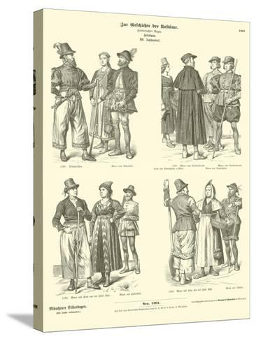 Frisian Costumes, 16th Century--Stretched Canvas Print