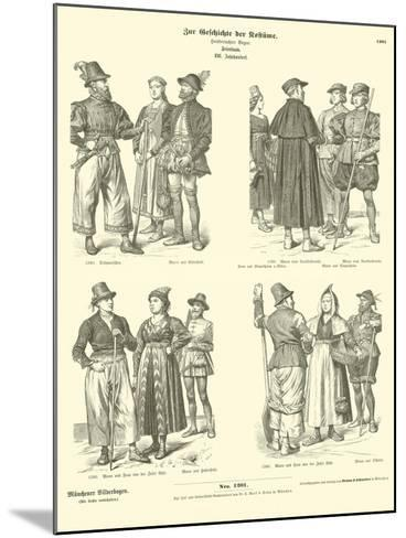 Frisian Costumes, 16th Century--Mounted Giclee Print