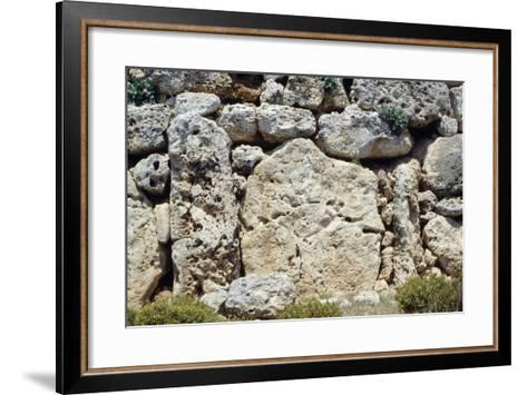 Walls of the Megalithic Temple of Ggantija--Framed Art Print