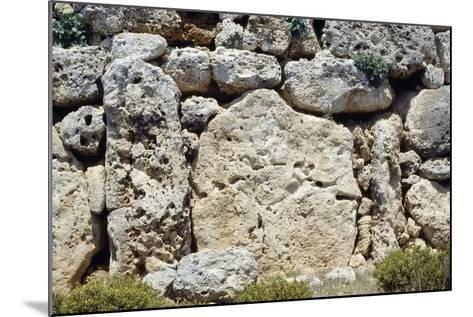 Walls of the Megalithic Temple of Ggantija--Mounted Photographic Print