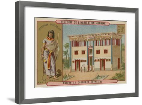 Egyptian House and Costumes--Framed Art Print