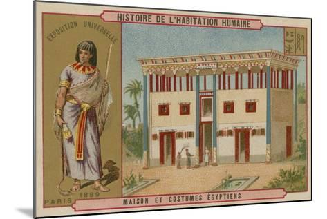 Egyptian House and Costumes--Mounted Giclee Print