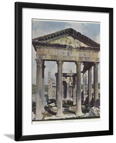 The Capitol in Dougga--Framed Art Print