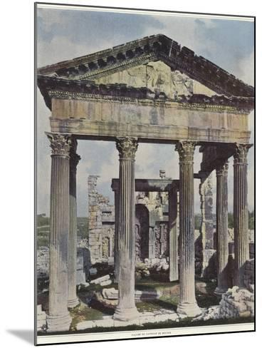The Capitol in Dougga--Mounted Photographic Print