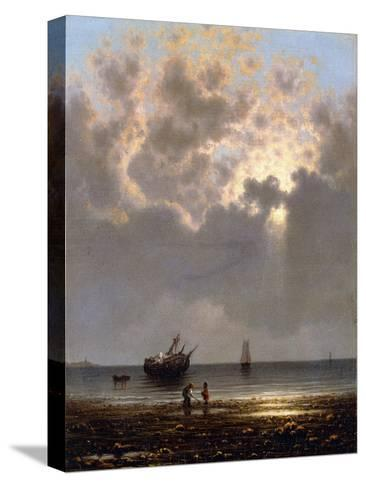Sun Breaking Through the Clouds-Martin Johnson Heade-Stretched Canvas Print