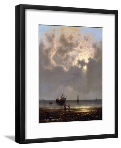 Sun Breaking Through the Clouds-Martin Johnson Heade-Framed Art Print