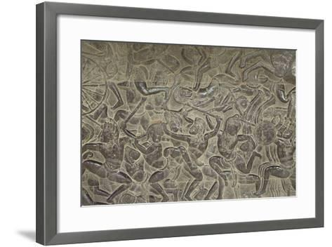 Relief from Angkor Wat Temple--Framed Art Print