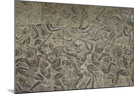 Relief from Angkor Wat Temple--Mounted Photographic Print