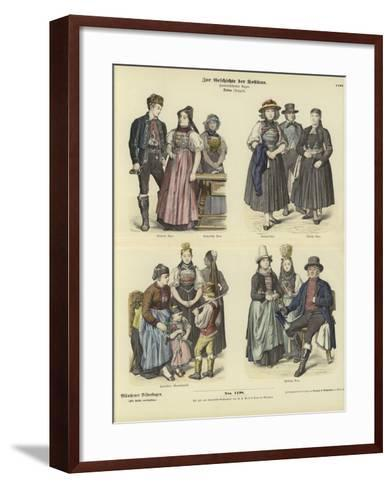 Costumes from Baden, Germany, 19th Century--Framed Art Print