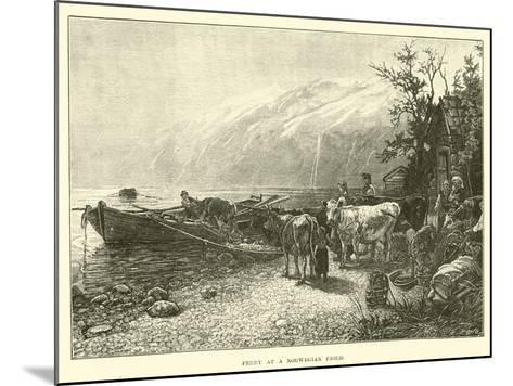 Ferry at a Norwegian Fjord--Mounted Giclee Print
