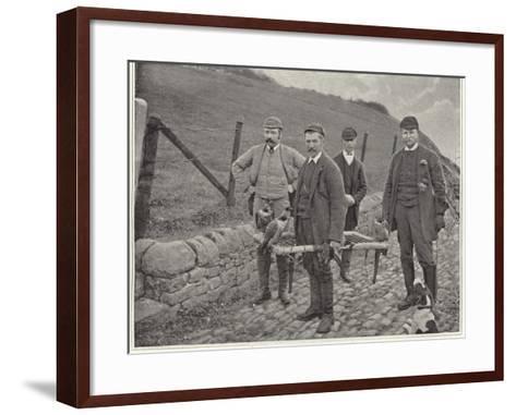 Major Fisher Hunting Grouse in Scotland--Framed Art Print