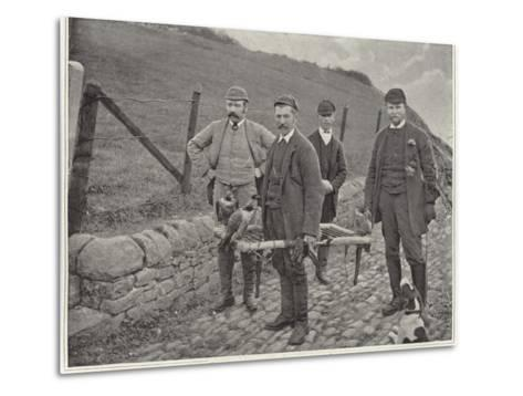 Major Fisher Hunting Grouse in Scotland--Metal Print