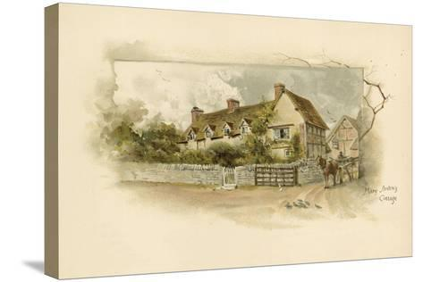 Mary Arden's Cottage--Stretched Canvas Print