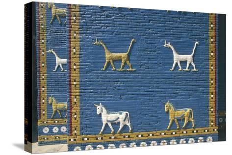 Detail of the Reconstruction of the Ishtar Gate--Stretched Canvas Print