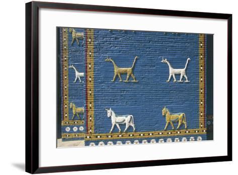 Detail of the Reconstruction of the Ishtar Gate--Framed Art Print