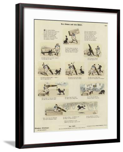 The Clown and His Poodle--Framed Art Print