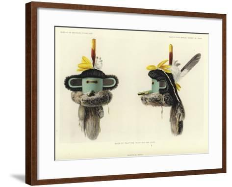 Mask of Pautiwa - Front and Side Views--Framed Art Print