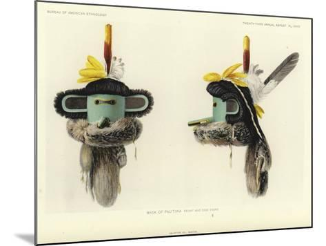 Mask of Pautiwa - Front and Side Views--Mounted Giclee Print