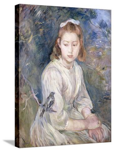 Little Girl with a Bird, 1891-Berthe Morisot-Stretched Canvas Print