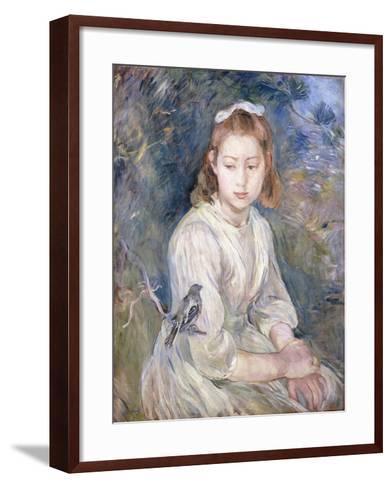 Little Girl with a Bird, 1891-Berthe Morisot-Framed Art Print