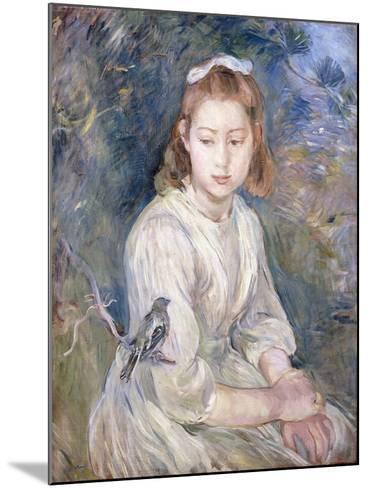 Little Girl with a Bird, 1891-Berthe Morisot-Mounted Giclee Print
