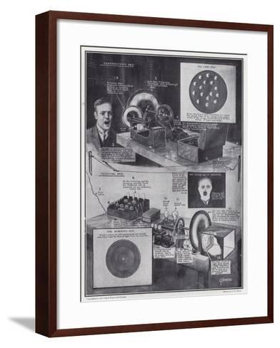 A Successful Attempt to See by Wireless--Framed Art Print