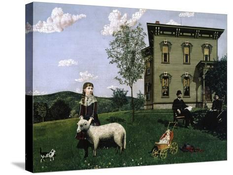 Mourning Picture, 1890-Edwin Romanzo Elmer-Stretched Canvas Print