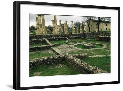 The Ruins of the Basilica and the Macellum--Framed Art Print