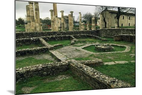 The Ruins of the Basilica and the Macellum--Mounted Giclee Print