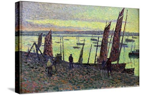 Boats at Camaret, 1893-Maximilien Luce-Stretched Canvas Print