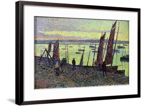 Boats at Camaret, 1893-Maximilien Luce-Framed Art Print