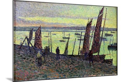 Boats at Camaret, 1893-Maximilien Luce-Mounted Giclee Print