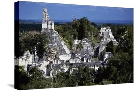 View of Temple V, Tikal National Park--Stretched Canvas Print