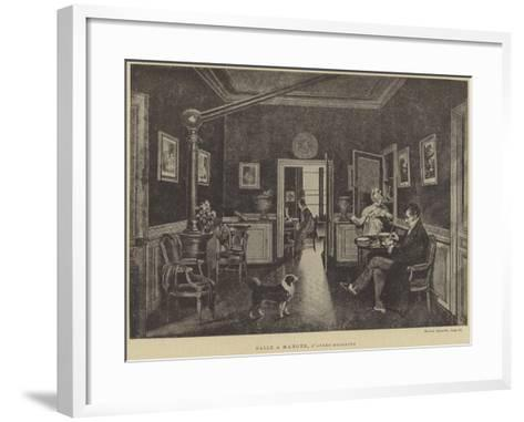 Dining Room--Framed Art Print