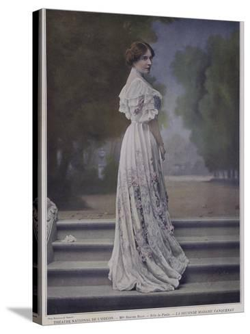 Berthe Bady as Paula in the Second Mrs Tanqueray--Stretched Canvas Print