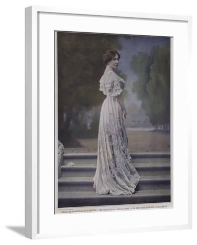 Berthe Bady as Paula in the Second Mrs Tanqueray--Framed Art Print