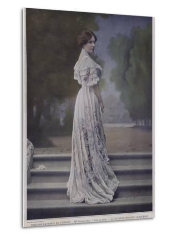 Berthe Bady as Paula in the Second Mrs Tanqueray--Metal Print