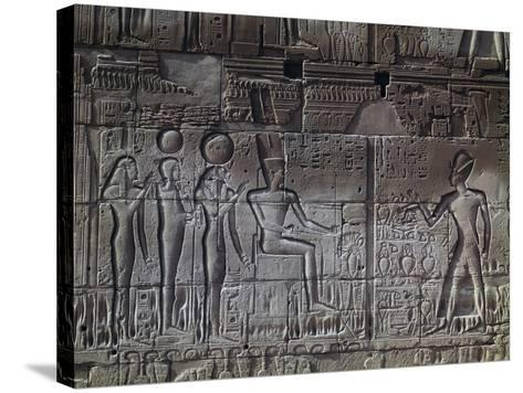 Relief, Temple of Amun, Karnak Temple Complex--Stretched Canvas Print