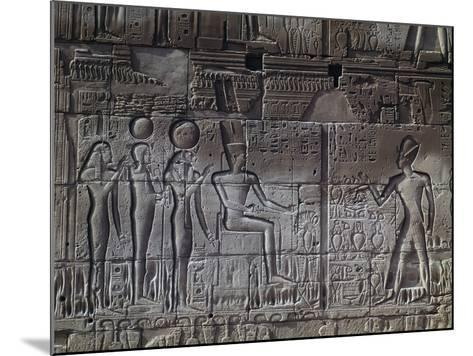 Relief, Temple of Amun, Karnak Temple Complex--Mounted Photographic Print