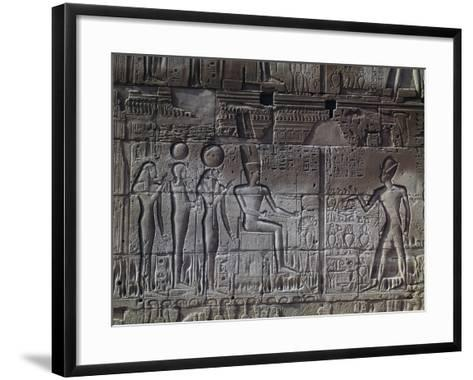 Relief, Temple of Amun, Karnak Temple Complex--Framed Art Print