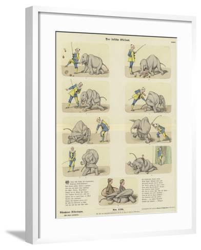 The Fake Elephant--Framed Art Print