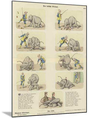 The Fake Elephant--Mounted Giclee Print