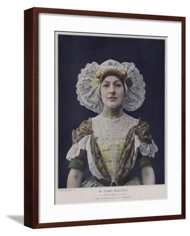 Marie Marcilly as Francisca in L'Absent--Framed Art Print