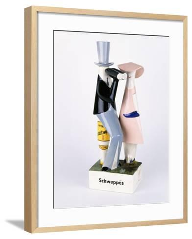 A Carltonware Schweppes Advertising Figure--Framed Art Print