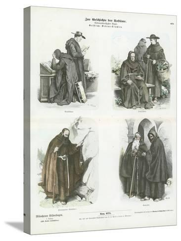 Men's Costumes of Christian Religious Orders--Stretched Canvas Print