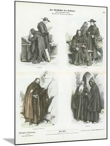 Men's Costumes of Christian Religious Orders--Mounted Giclee Print