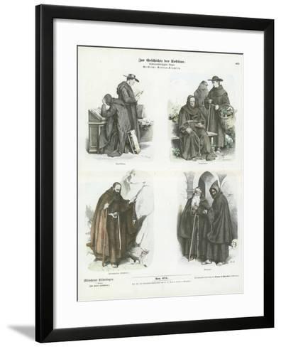 Men's Costumes of Christian Religious Orders--Framed Art Print