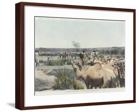 Watering the Camels at the Source in the Desert--Framed Art Print