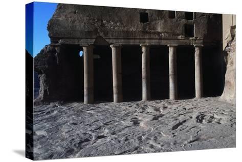 Urn Tomb, Petra--Stretched Canvas Print