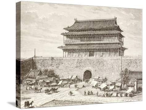 The Tiananmen Gate in Peking in the 1880S--Stretched Canvas Print